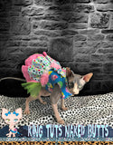 Sphynx Cat Clothes Harness Dress Handmade Cupcake Peeps by KingTutsNakedButts