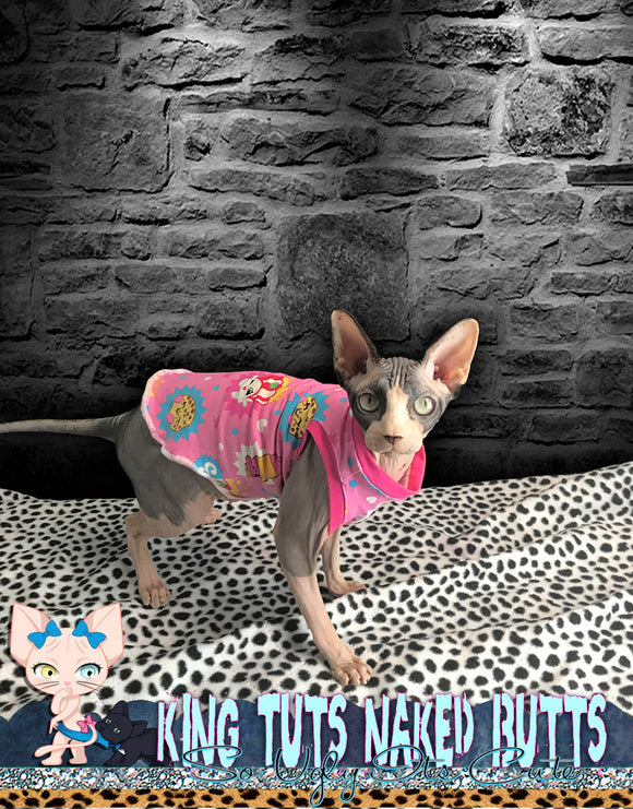 Sphynx Cat Shirt Tank Top Clothes Handmade shopkins by KingTutsNakedButts
