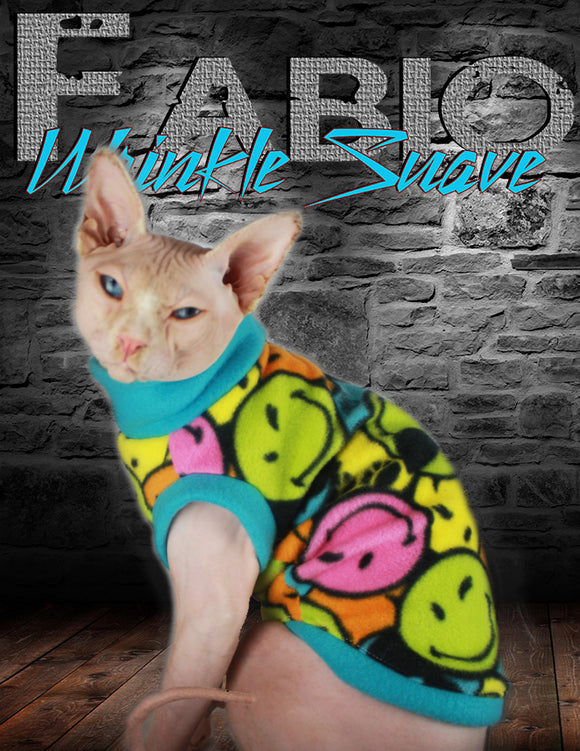 Sphynx Cat Sweater Clothes Handmade Emoji Theme by KingTutsNakedButts