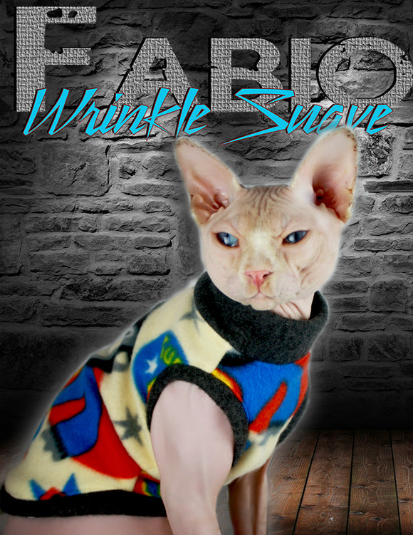 Sphynx Cat sweater Clothes Handmade Monkey Super Hero Theme KingTutsNakedButts