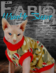 Sphynx Cat Sweater Clothes Handmade Sock Monkey Inspired Theme KingTutsNakedButts