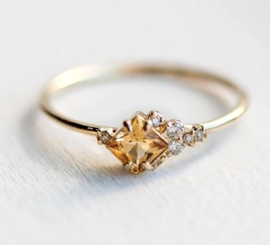Champaign Gemstone Ring