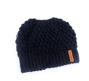 Free the Pony-Tail Knitted Hat
