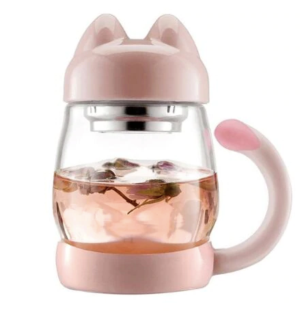 Glass Cat Tea Steeper