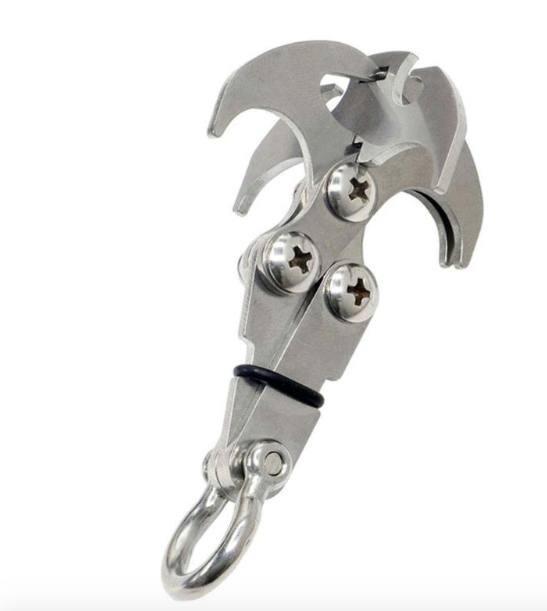 REAL GRIZZLY BIG FOLDING GRAPPLING HOOK / CLIMBING CLAW
