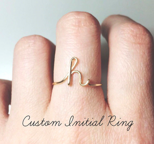 Dainty Personalized Ring