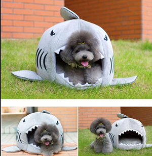 Adorable-Furries™ Shark-Shaped Animal Bed