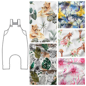 Animal Fabric Dungarees - 5 Fabrics