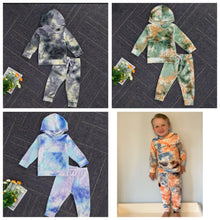 Load image into Gallery viewer, Basic Tie Dye Hooded Lounge Wear
