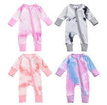 Load image into Gallery viewer, Basic Tie Dye Footless Romper