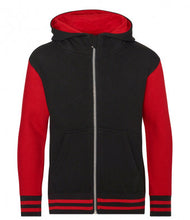 Load image into Gallery viewer, Hooded Varsity Jacket