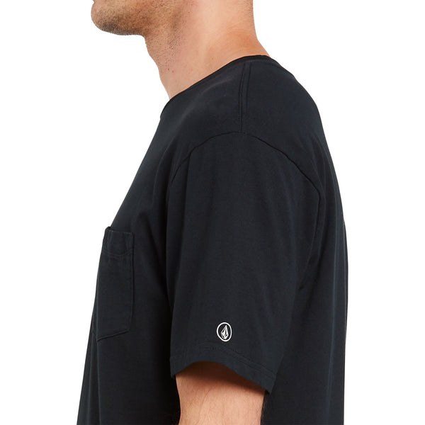 SOLID S/S POCKET TEE