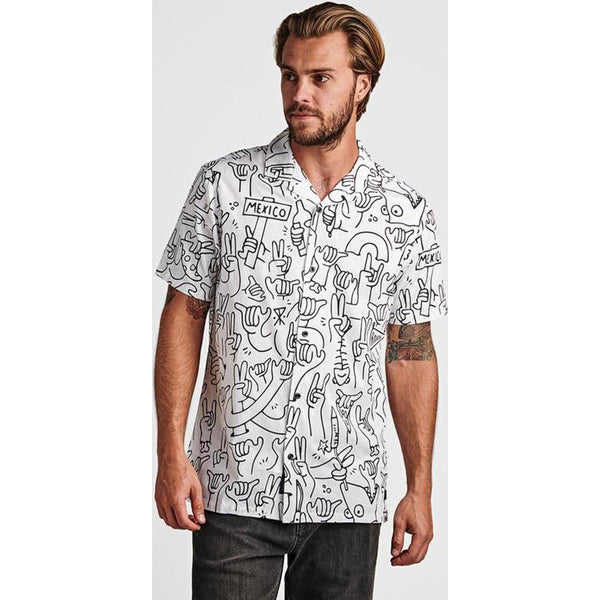 Peace & Shakas Button Up Shirt