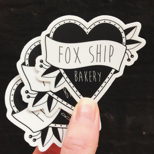 3 Foxship Bakery Stickers
