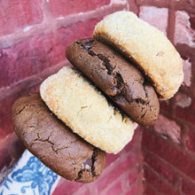 Load image into Gallery viewer, Vegan Peanut Butter and Double Chocolate Cookies