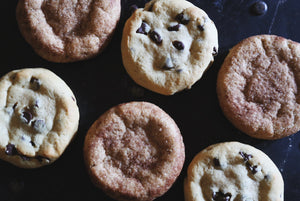 Assorted Quarter Pound Vegan Cookies - 6 Pack Snickerdoodle & Chocolate Chip