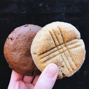 Vegan Peanut Butter and Double Chocolate Cookies