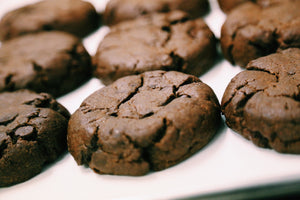 6 Quarter Pound Vegan Double Chocolate Chip Cookies
