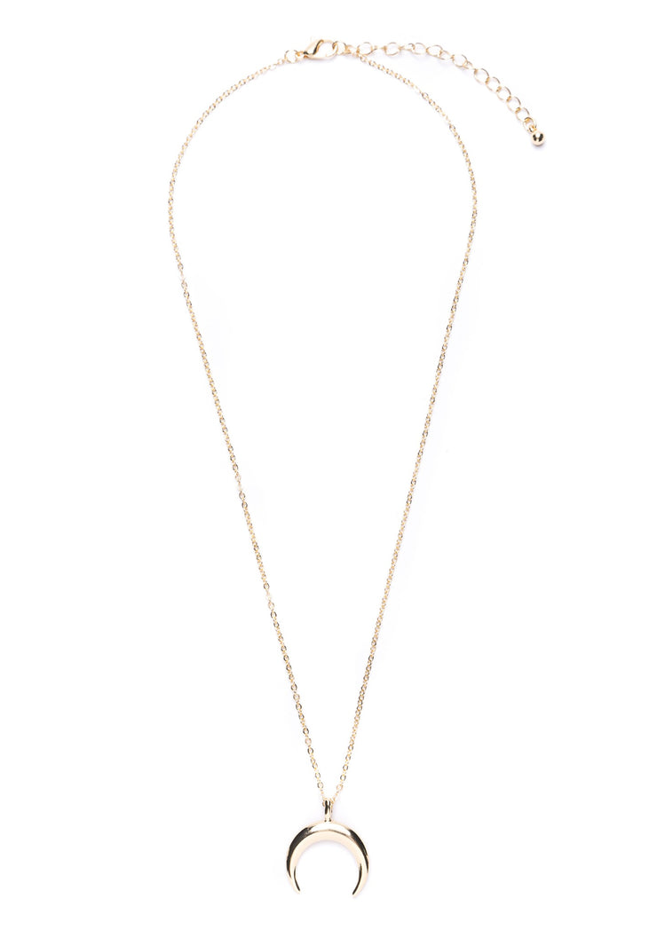 Half Moon Necklace Gold