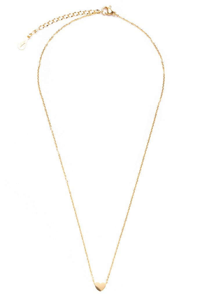 Heart Pendant Necklace Gold