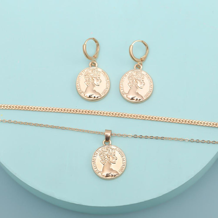 Victoria   Earrings with Necklace