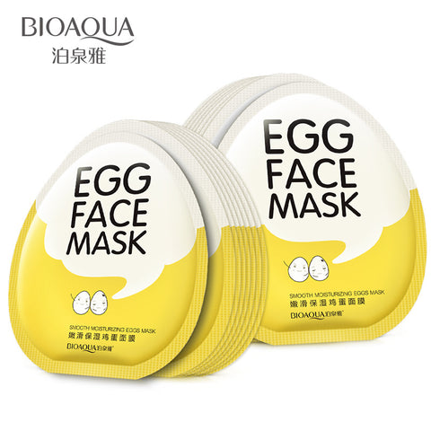 BIOAQUA Egg Facial Mask Smooth Moisturizing