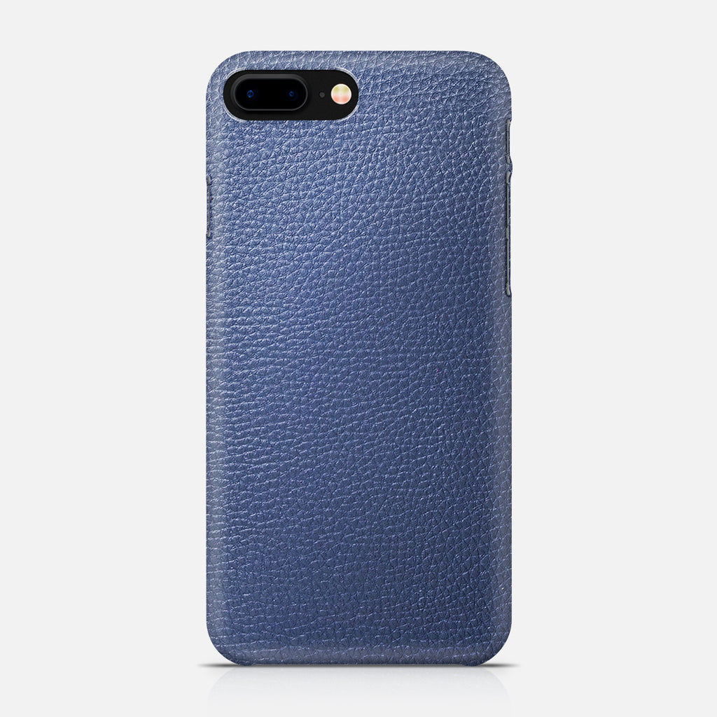 COVER PELLE LIGHT BLUE IPH7 PLUS