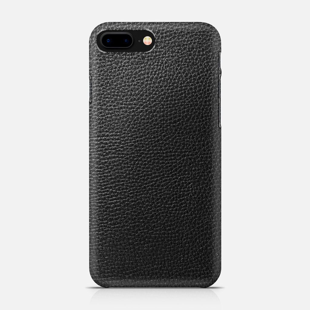 COVER PELLE NERA IPH7 PLUS