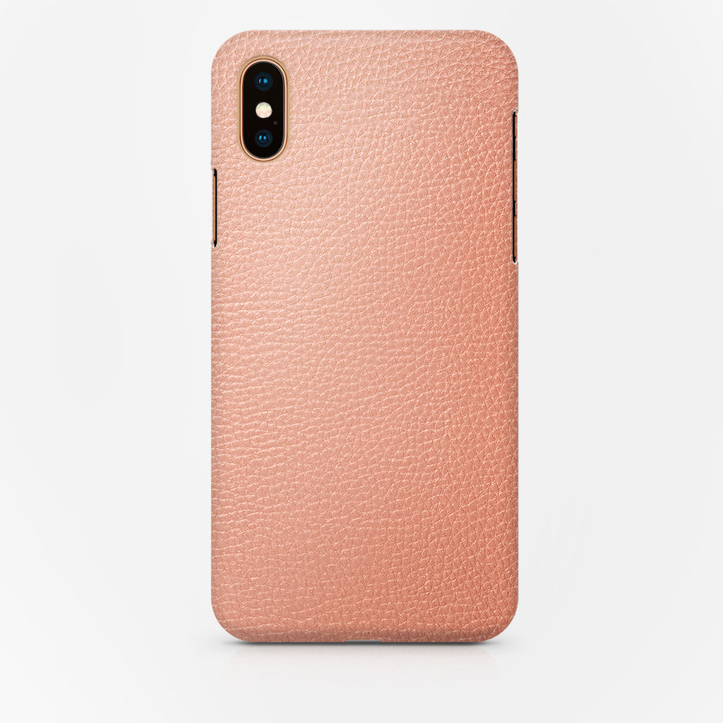COVER PELLE PINK IPH XS MAX