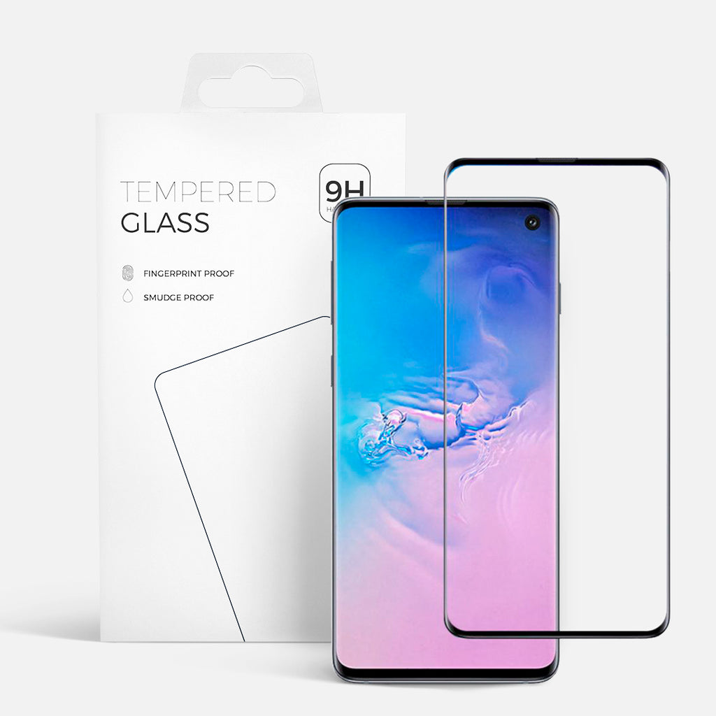 CURVED GLASS SAMSUNG S10 BLACK