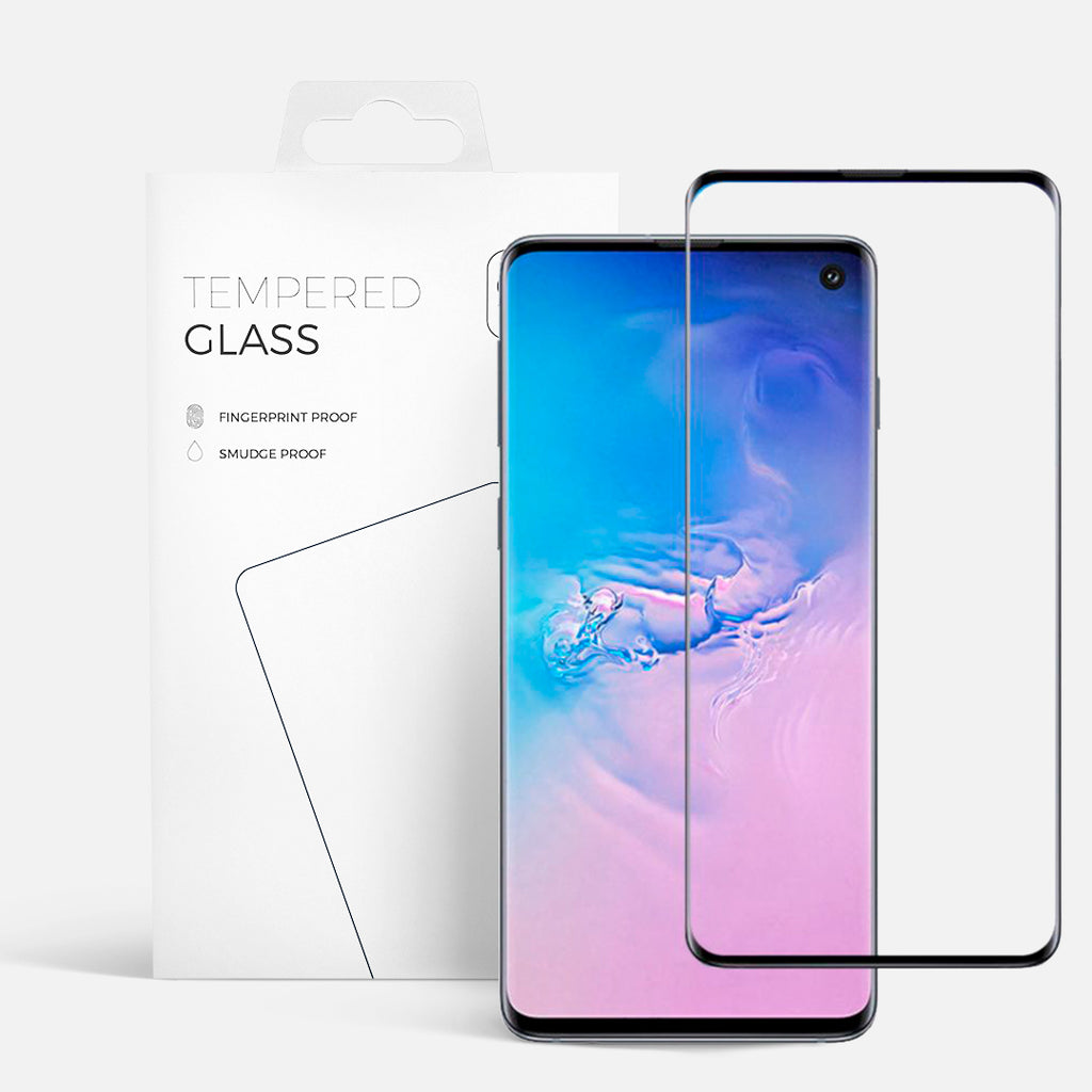 CURVED GLASS SAMSUNG S10 PLUS BLACK