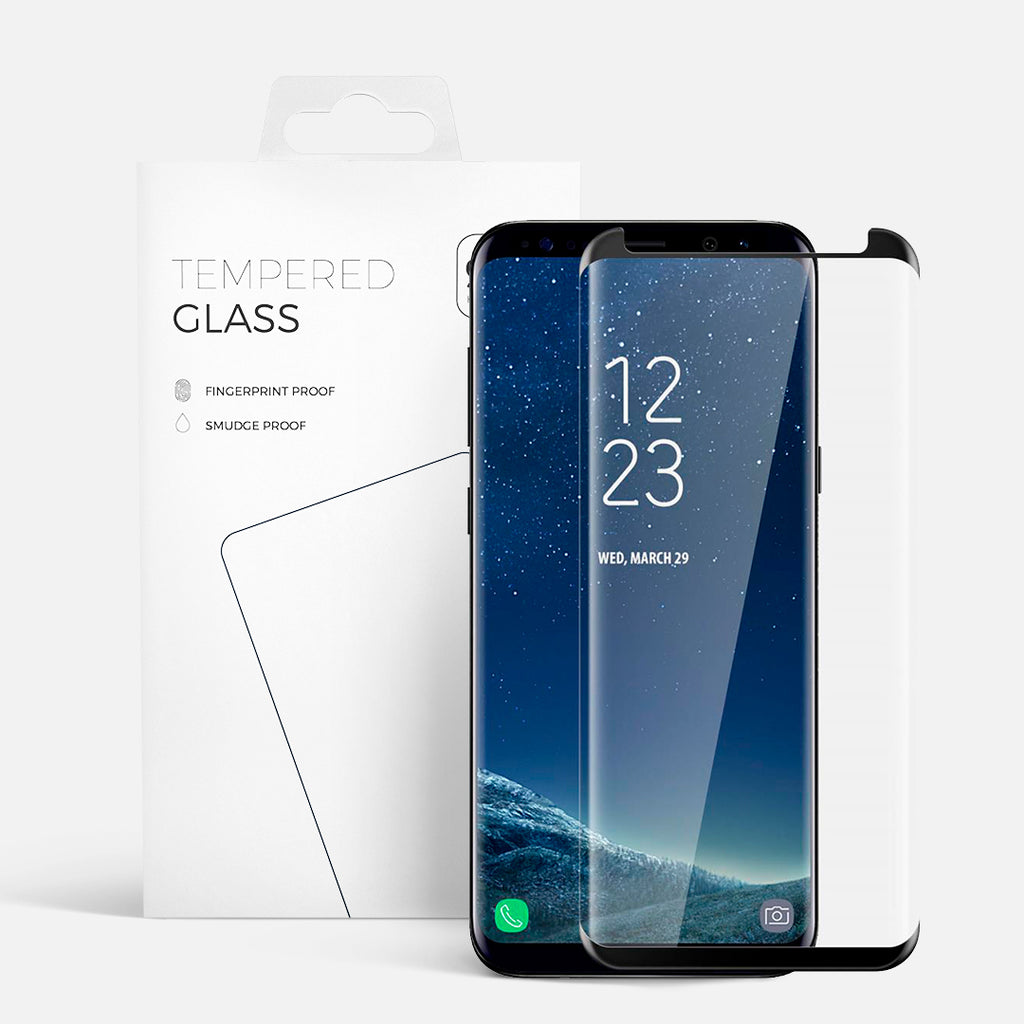 CURVED GLASS SAMSUNG S8 PLUS BLACK