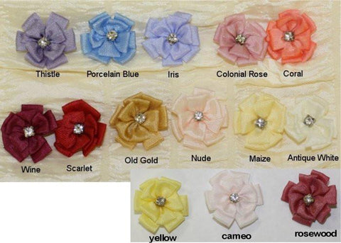 Ribbon Embroidery Double Loop Stitch Flower