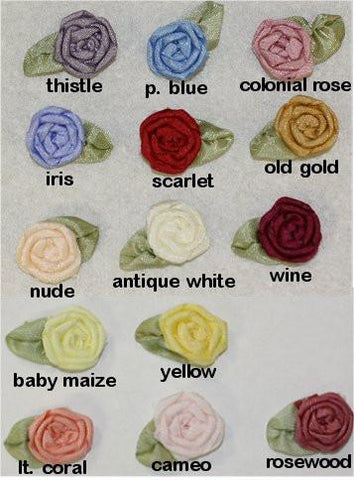 Ribbon Embroidery Coiled/Spider Web Rose - SilkRibbon.com