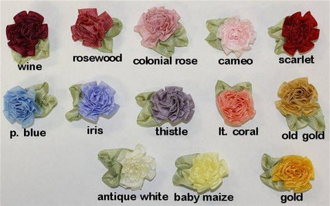 Ribbon Embroidery Cabbage Rose - SilkRibbon.com