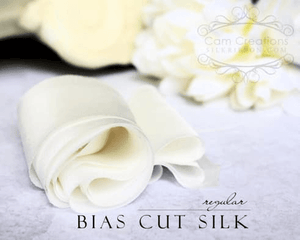 Bias Cut Silk Habotai Ribbon - SilkRibbon.com