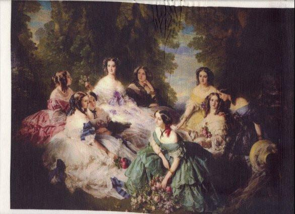 Silk Fabric Panel - Princess Eugenie and her Maids