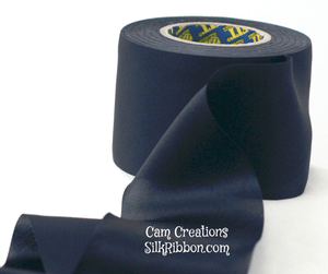 Black Bias Cut Silk Satin Ribbon, 50mm by the yard ($2.20 per yard) - SilkRibbon.com