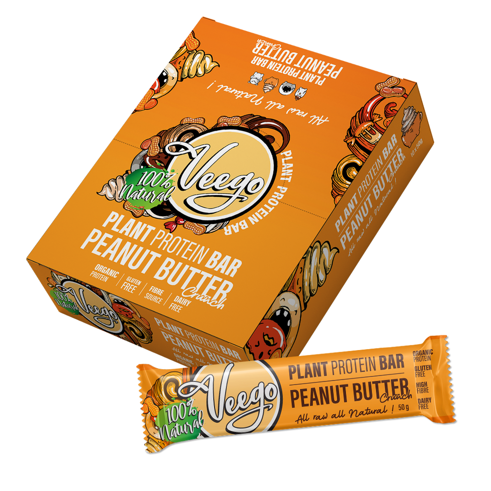 Peanut Butter Crunch Veego Plant Protein Bar