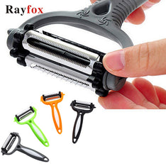 Rayfox Multifunctional 360 Degree Rotary Kitchen Tool Gadget Vegetable Fruit Potato Carrot Peeler Grater Zesters Cucumber Slicer