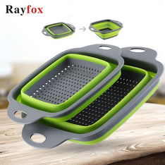 Kitchen Accessories Tools Foldable Fruit Vegetable Washing Basket Strainer Portable Colander Collapsible Drainer Kitchen Gadgets