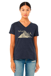 "Solace in the Wild ""Blue Skies"" V-neck Tee"