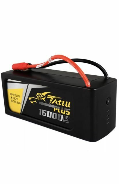 Tattu Plus 16000mAh 6S 15C 22.2V Lipo Battery Pack with AS150+XT150 Plug - New Version
