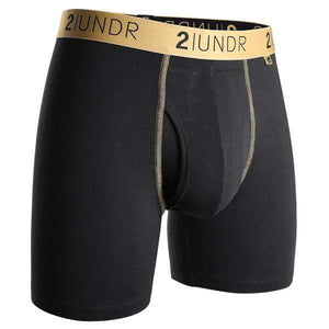 2UNDR Underwear Small (28 - 30) 2UNDR - SWING SHIFT BOXER BRIEF - Black/Gold