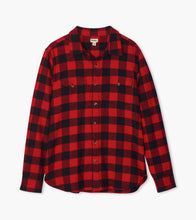Load image into Gallery viewer, Little Blue House by Hatley Lounge Wear Little Blue House - Buffalo Plaid Men's Heritage Button Down Shirt
