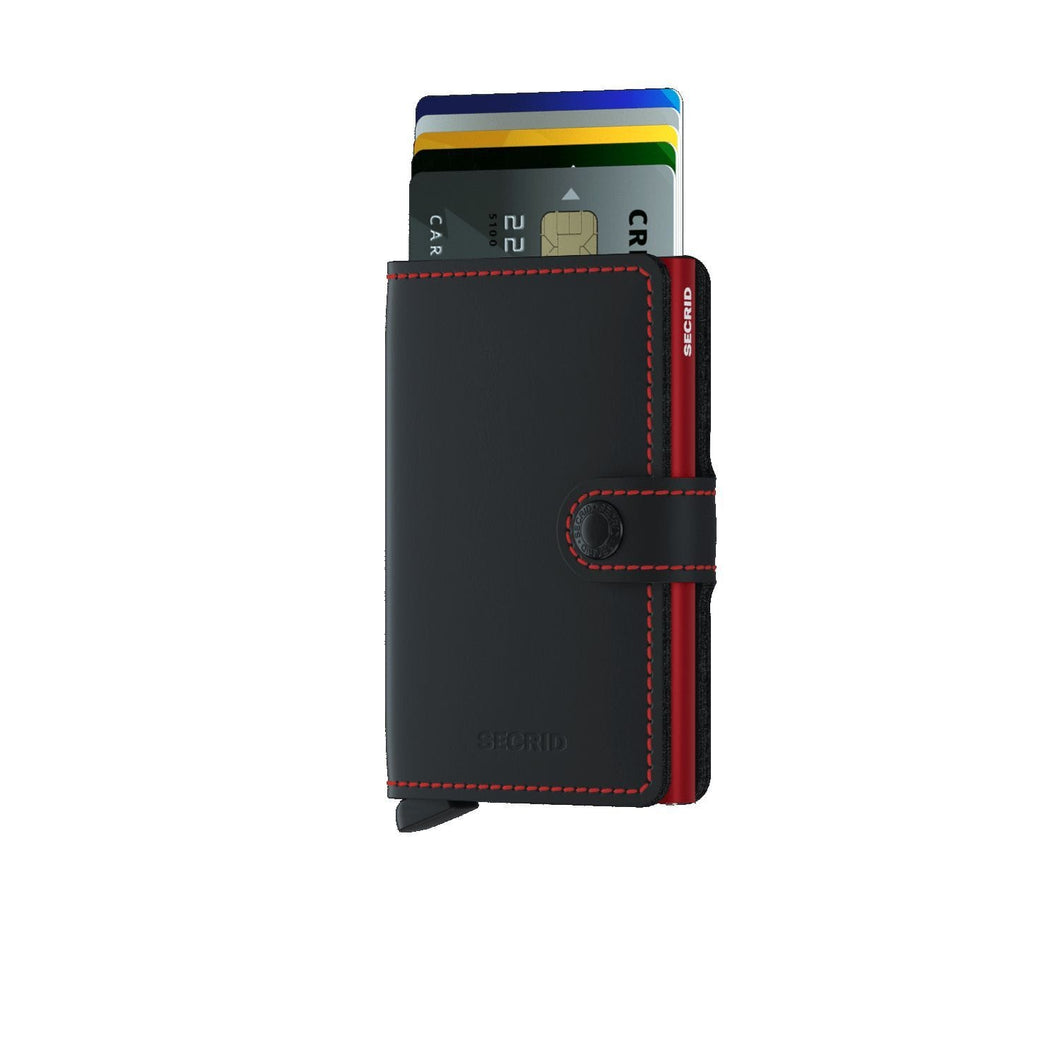 Secrid Wallets Black-Red SECRID - Miniwallet - Matte