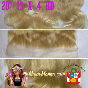 "Imported Peruvian 13 x 4 HD Frontal (12-24"") Virgin Hair 613 Body Wave"