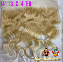 "Load image into Gallery viewer, Imported Peruvian 13 x 4 HD Frontal (12-24"") Virgin Hair 613 Body Wave"