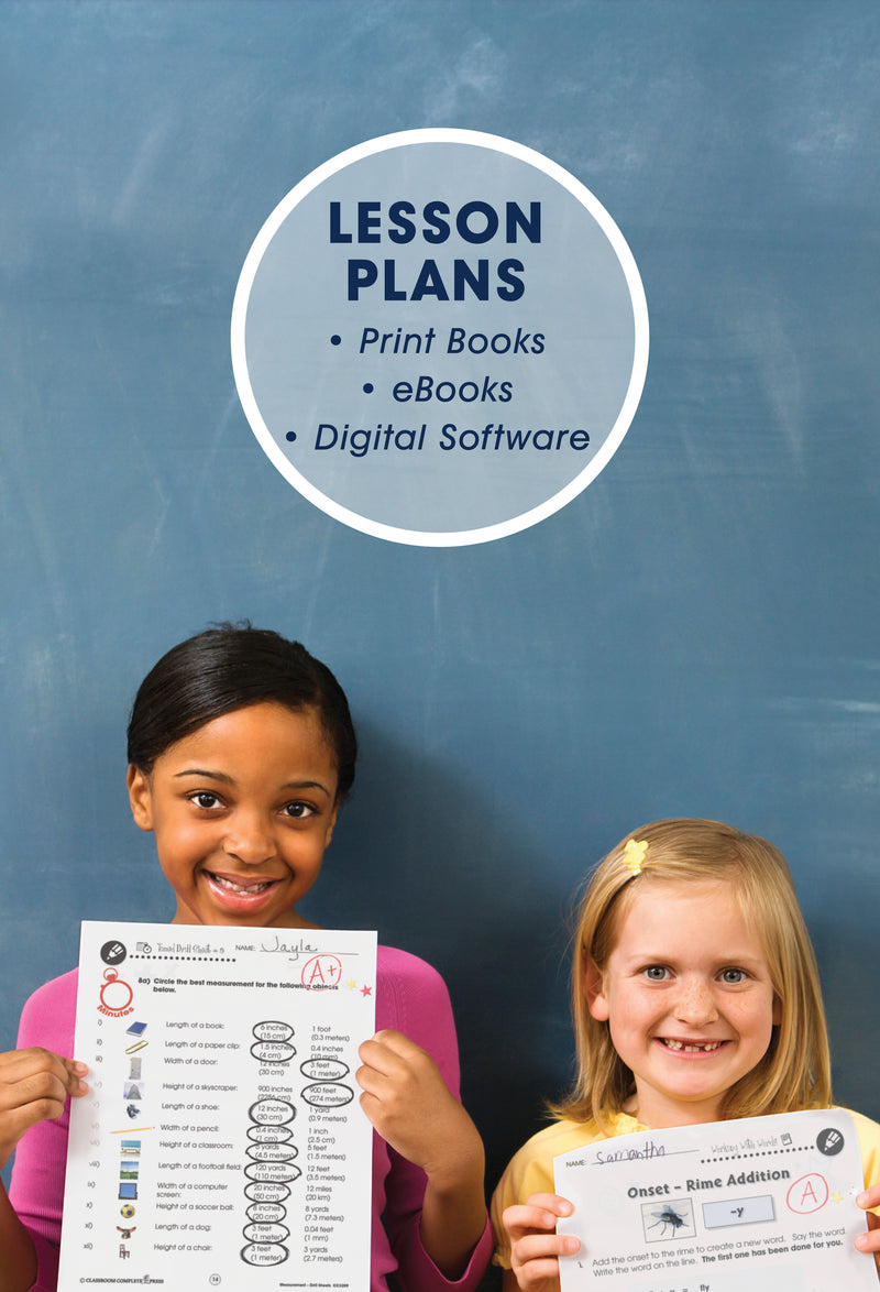 Lesson Plans in the form of print books, ebooks and digital software. Click to see mathematics.