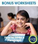 How to Write a Paragraph - BONUS WORKSHEETS